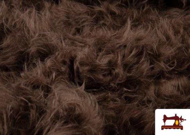 Venta online de Tela de Pelo Marron Largo para Disfraz de Animal color Tostado