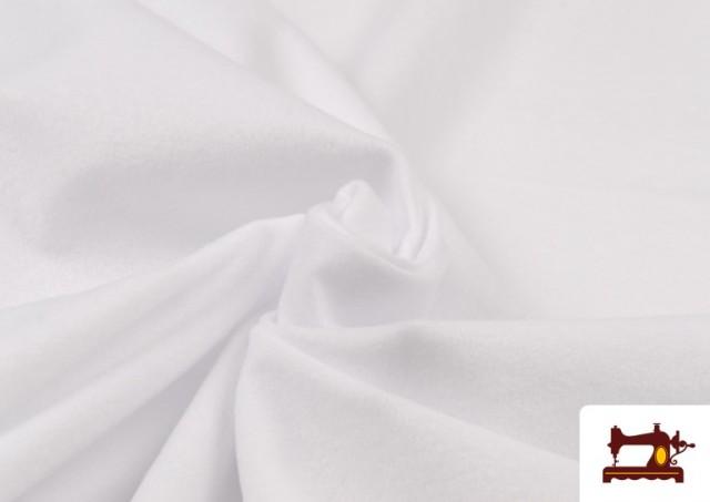 Tela de Antelina de Colores color Blanco