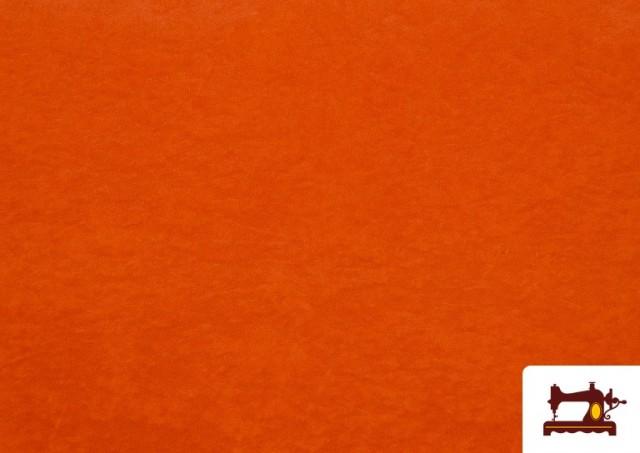 Tela de Antelina de Colores color Naranja