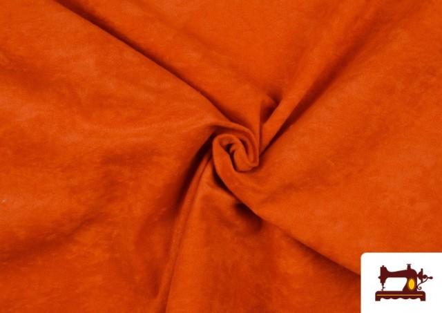 Comprar Tela de Antelina de Colores color Naranja