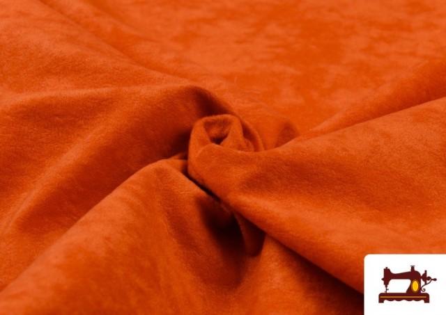 Comprar online Tela de Antelina de Colores color Naranja