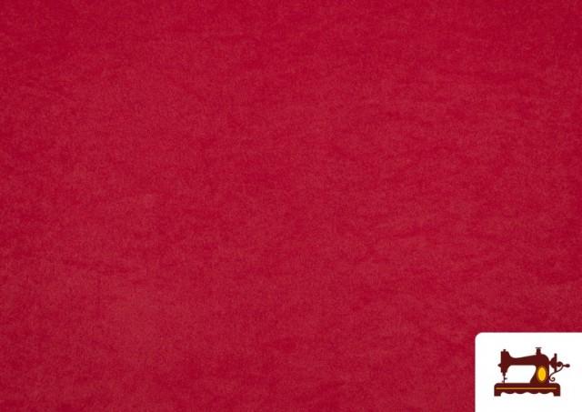Tela de Antelina de Colores color Rojo