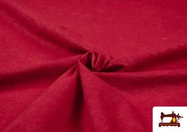 Comprar Tela de Antelina de Colores color Rojo