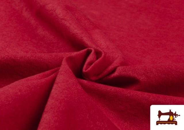 Venta de Tela de Antelina de Colores color Rojo
