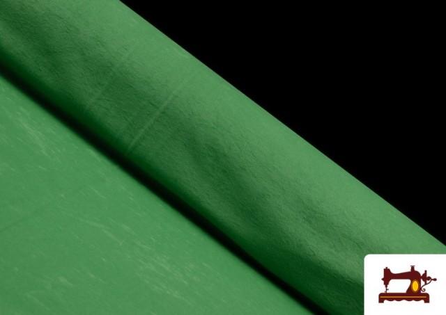 Comprar online Tela de Antelina de Colores color Verde