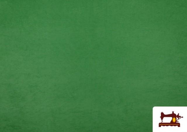 Venta online de Tela de Antelina de Colores color Verde