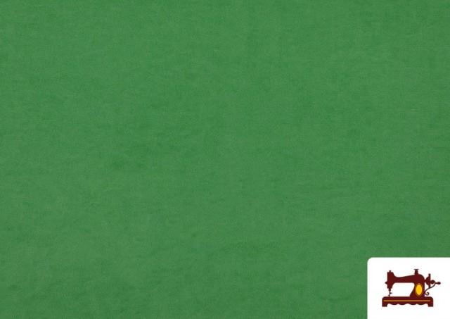 Tela de Antelina de Colores color Verde