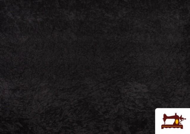 Comprar online Tela de Antelina de Colores color Negro
