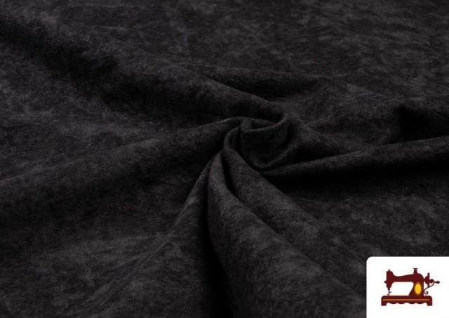 Tela de Antelina de Colores color Negro