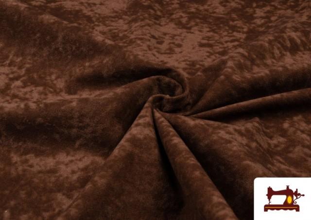 Venta online de Tela de Antelina de Colores color Marrón