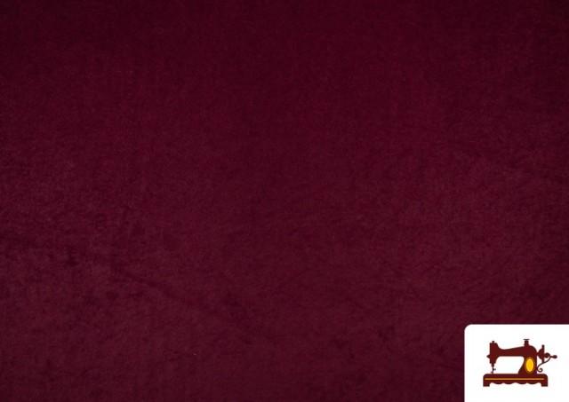 Venta online de Tela de Antelina de Colores color Granate