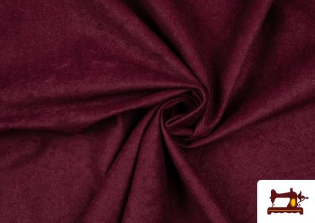 Tela de Antelina de Colores color Granate