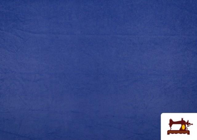 Comprar online Tela de Antelina de Colores color Azulón