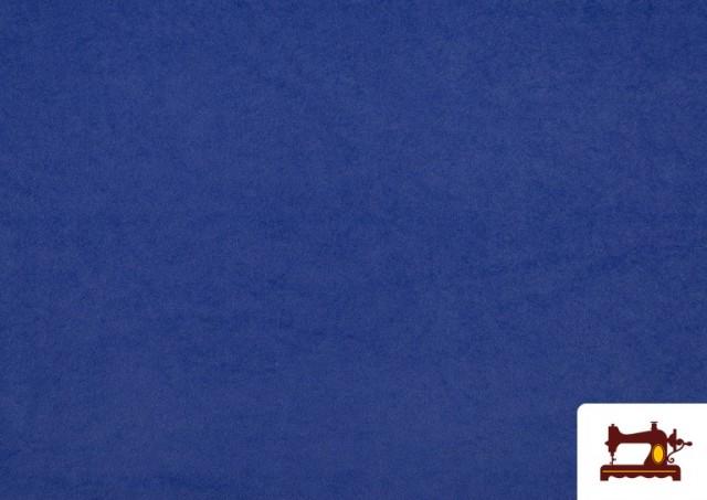 Venta online de Tela de Antelina de Colores color Azulón