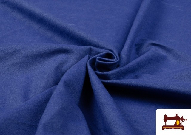 Tela de Antelina de Colores color Azulón