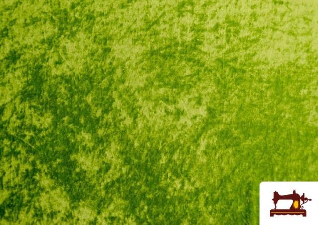 Venta de Tela de Terciopelo Económico Martele color Verde