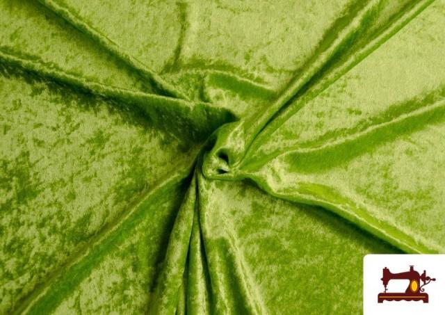 Comprar online Tela de Terciopelo Económico Martele color Verde