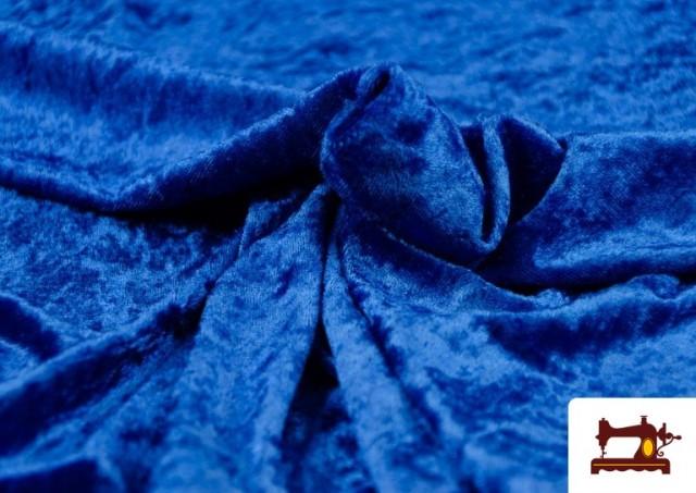 Comprar Tela de Terciopelo Económico Martele color Azulón