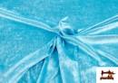 Venta online de Tela de Terciopelo Económico Martele color Azul