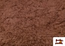 Tela de Terciopelo Económico Martele color Marrón