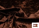Venta online de Tela de Terciopelo Económico Martele color Marrón