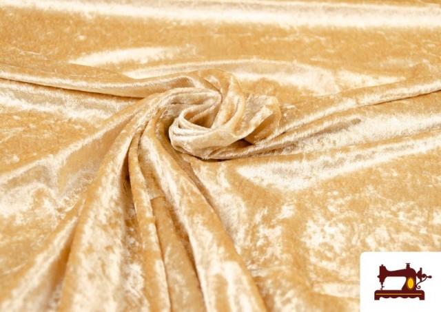 Venta online de Tela de Terciopelo Económico Martele color Champagne