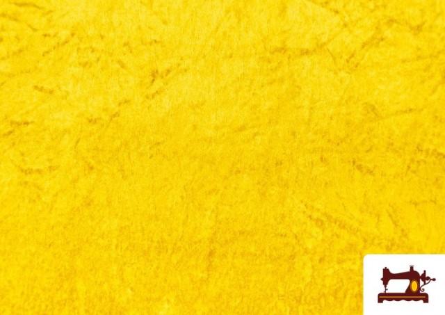 Tela de Terciopelo Económico Martele color Dorado