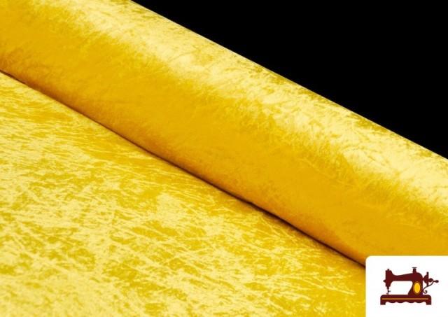 Comprar Tela de Terciopelo Económico Martele color Amarillo