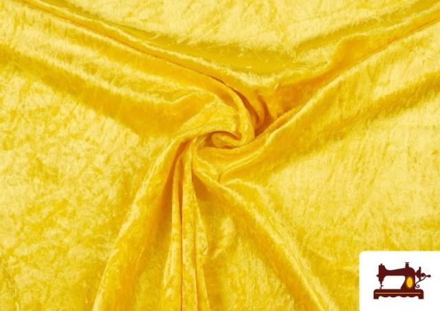 Comprar online Tela de Terciopelo Económico Martele color Amarillo