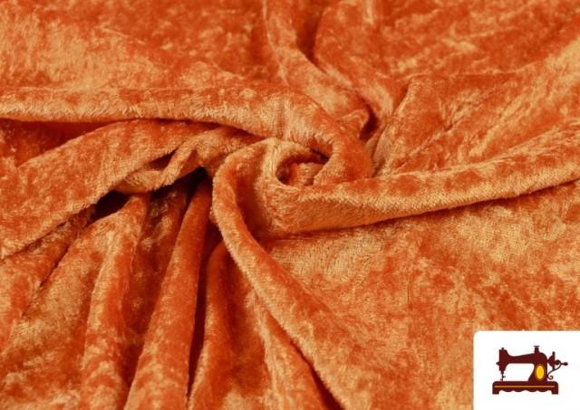 Comprar online Tela de Terciopelo Económico Martele color Naranja