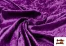 Tela de Terciopelo Económico Martele color Morado