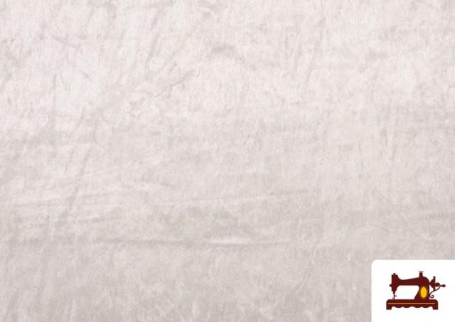 Comprar Tela de Terciopelo Económico Martele color Blanco