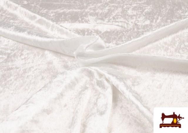 Comprar online Tela de Terciopelo Económico Martele color Blanco