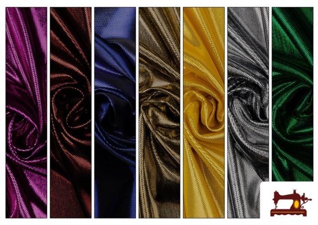 Tela de Lame Económico Dorado y Colores Brillantes Metalizados