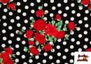 Venta de Tela Estampada con Topos para Vestidos de Flamenca