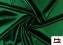 Tela de Lame Económico Dorado y Colores Brillantes Metalizados color Verde
