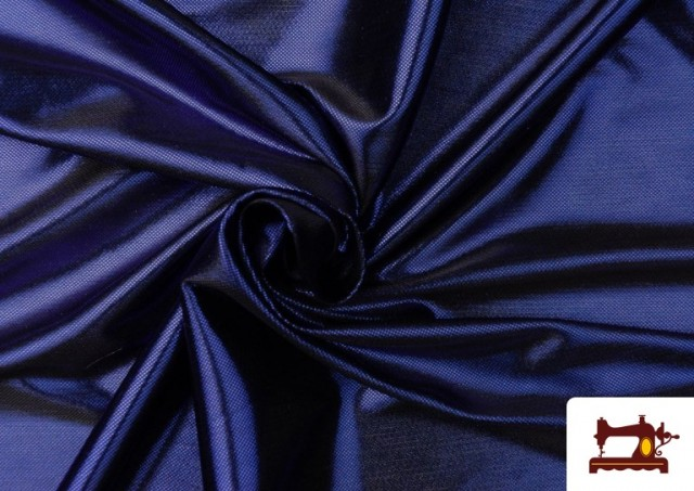 Tela de Lame Económico Dorado y Colores Brillantes Metalizados color Azul