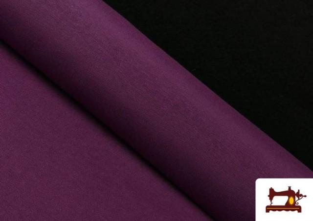 Comprar online Tela de Loneta de Colores color Berenjena