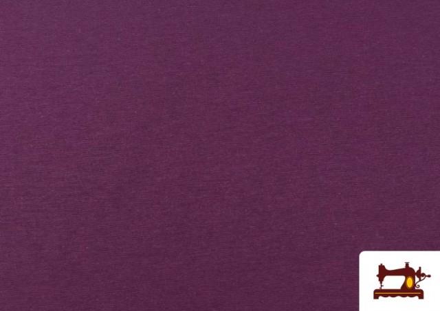 Venta online de Tela de Loneta de Colores color Berenjena