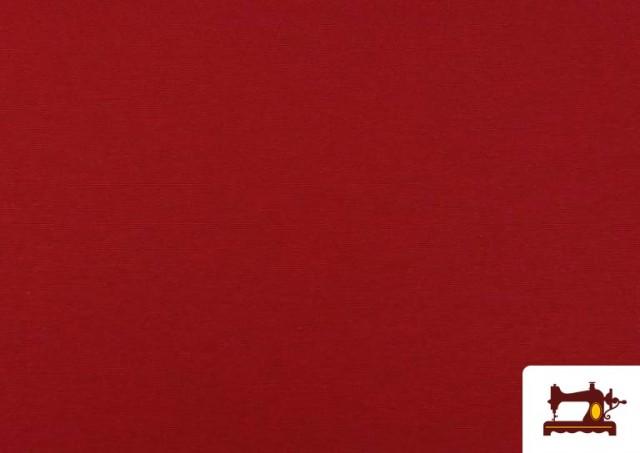 Venta online de Tela de Loneta de Colores color Rojo