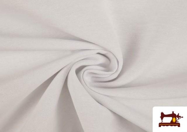 Tela de Loneta de Colores color Blanco