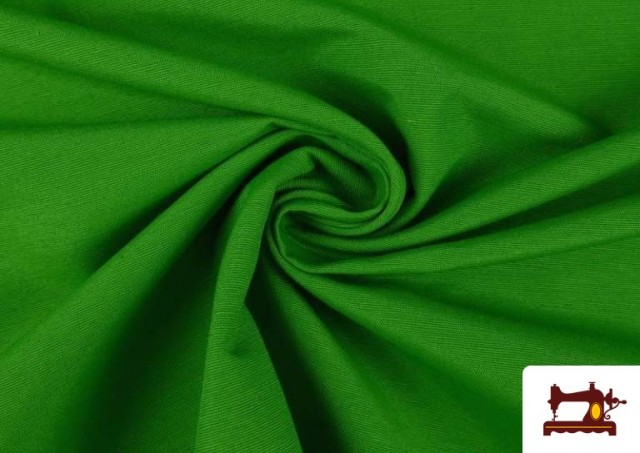 Tela de Loneta de Colores color Verde