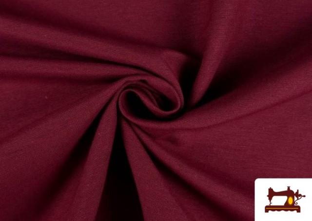 Venta online de Tela de Loneta de Colores color Granate