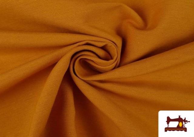 Tela de Loneta de Colores color Mostaza