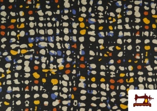 Venta de Tela de Punto Roma Estampado Pinzeladas de Colores