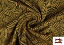 Comprar online Tela de Punto Roma Estampado Chispeado de Colores color Mostaza