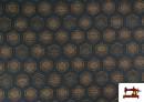 Venta de Tela de Punto Roma Hexágonos de Colores color Azul Marino