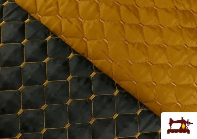 Venta de Tela Acolchada Reversible de Colores color Mostaza