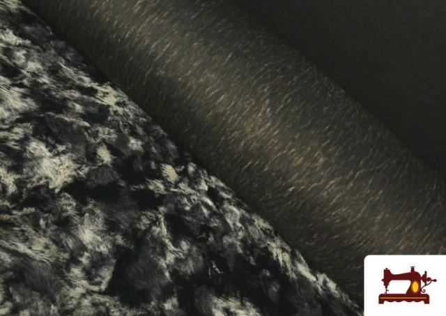 Comprar Tela de Pelo Suave para Cuellos y Vestuario color Gris