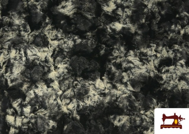 Tela de Pelo Suave para Cuellos y Vestuario color Gris
